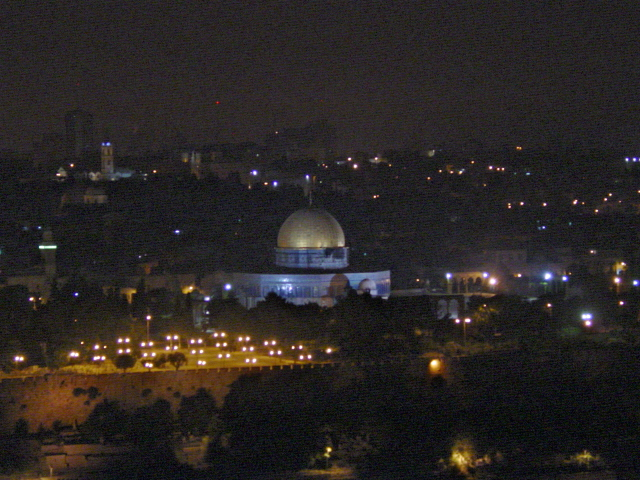 The Temple Mount at Night