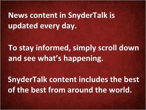 3--News Content in SnyderTalk
