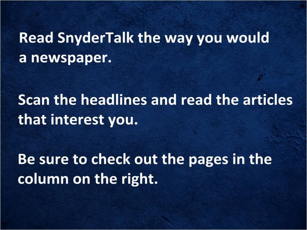 8--How to Read SnyderTalk